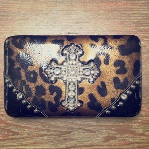 Animal print clutch/wallet